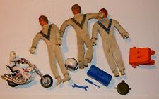 VTG IDEAL EVEL KNIEVEL ACTION FIGURE & ACCESSORY LOTW/ DIE CAST MOTORCYCLE