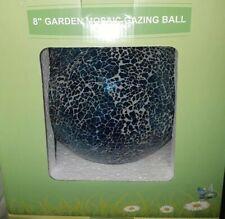"Mosaic 8"" Glass Gazing Blue Ball Patio, Yard, Garden Decor"