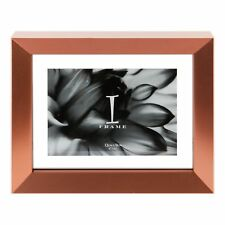 """Contemporary Modern Photo Frame with Aperture 5"""" x 3"""" Pink and Silver"""