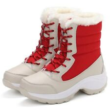BIGTREE New Women Winter Snow Boots Shoes Fur Lined Warm Lace Up High Mid Calf
