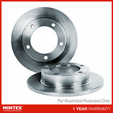 Matching OE Quality Mintex Rear Solid Brake Discs Set Pair