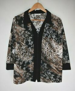 Fella Hamilton animal print jacket.  Size 16. Ex cond
