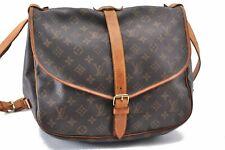 Authentic Louis Vuitton Monogram Saumur 35 Shoulder Bag M42254 LV A8325