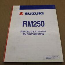MANUEL REVUE TECHNIQUE D ATELIER SUZUKI RM 250 2005 K5 ->250rm LIVRE EN FRANCAIS