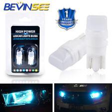 2x 12V Ice Blue LED 194 168 T10 W5W Wedge Instrument Panel Light Bulb For Toyota