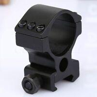 30mm High Profile 6 Screw Scope Mount Ring 20mm Weaver Rail for Rifle Flashlight