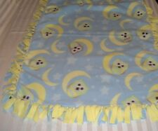 Fleece tie blanket Owls Yellow  33 x 46