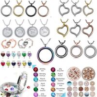 Living Memory Floating Family Charms Locket Pendant Necklace Fashion Jewelry