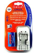 Fameart CRV3 Cargador de batería con entrada de tensión en todo el mundo para turistas de vacaciones