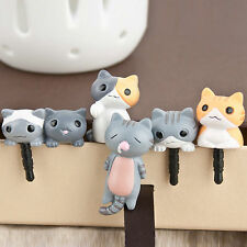 1Pc Lovely 3.5mm Cheese Cat Earphone Ear Cap Anti Dust Plug Cover For Cell Phone