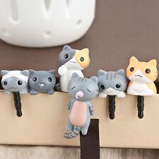 1Pcs Cute 3.5mm Cheese Cat Earphone Ear Cap Anti Dust Plug Cover For Cell Phone
