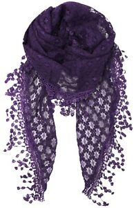 Lace Triangle Sheer Scarf / Hip Scarf Cover-up