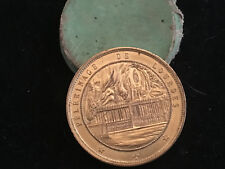 """1858 Médaille Pélerinage de Lourdes """" L'Immaculée Conception"""" Antique Medal"""