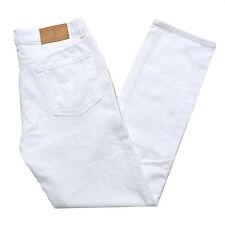 Tommy Hilfiger Jeans Mens Straight Leg Fit Denim Pants Flag Logo Stonewashed New