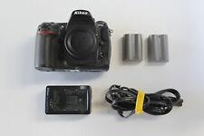 Nikon D300 12.3MP Digital SLR Camera Body w/2 original batteries and charger