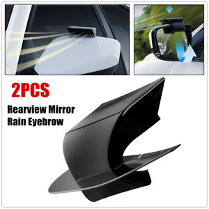 2×Car Rearview Mirror Rain Water Rainproof Eyebrow Cover Side Shield Water Block