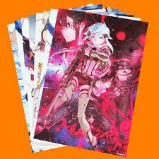 8pcs/Set New Anime Sword Art Online SAO Posters Print Wall Stickers Paper