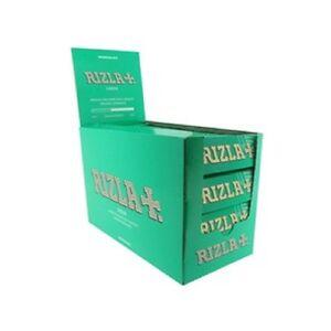 NEW 10 X RIZLA GREEN SMALL CIGARETTE ROLLING GENUINE PAPERS ORIGINAL