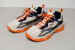 USED Fila Ray Tracer TR 2 Sneaker Men Size 10 Gardenia/Silver Burch/Orange