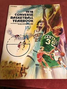 HISTORIC 1978 Converse Basketball Yearbook 76 Pages Larry Bird Phil Ford