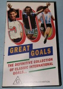 SOCCER 500 GREAT GOALS VHS VIDEO CASSETTE VGC