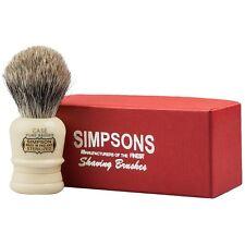Simpsons Case Shaving Brush Pure or Best Badger Shaving Brush