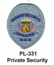 """PRIVATE SECURITY(B) EMBROIDERED PATCHES 4"""""""
