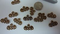 Victorian brass castings findings triple connector dangle earrings jewelry  A127