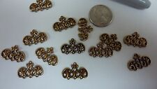 Victorian brass castings findings triple connector dangle earrings jewelry  A127