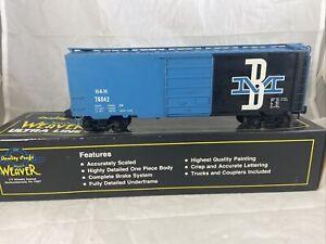 Weaver B&M Boston & Maine 40' Sliding Door Box Car #76042 With Box