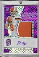 2018 PANINI SPECTRA BAKER MAYFIELD ROOKIE RC PATCH JERSEY AUTO NEON PURPLE 14/50