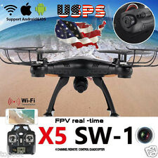X5SW-1 Wifi FPV RTF 2.4G 4CH RC Black quadcopter Camera Drone with HD Camera US