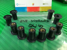 Wellnuts Metric M5 Windscreen/Fairing Rubber Well Nuts for most all bikes