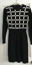 New York And Company Black And White Sweater Dress Size Medium