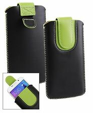 Stylish PU Leather Pouch Case Sleeve Has Pull Tab Fits Polaroid Smartphone