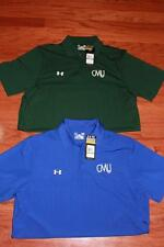 LOT 2 UNDER ARMOUR HEATGEAR MENS GOLF POLO SHIRTS CENTRAL METHODIST CMU LRG NWT