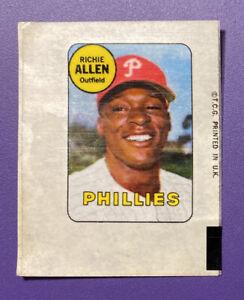 Richie Allen - Phillies 1969 Topps Baseball Sticker - Very Good or Better