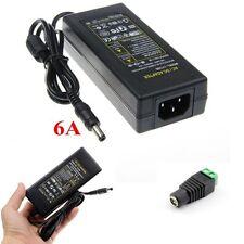 12V 6A Power Supply US/AU/EU/UK Adapter For SMD LED Strip Light + DC Connector