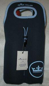 NEW !! Peter Millar neoprene 2-bottle wine bag with carry handle