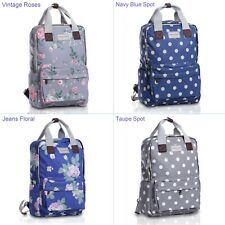 Ladies Jeans floral Spot Waterproof Lightweight Laptop Backpack School Rucksack
