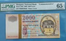 "2000 Hungary 2000 Forint PMG65 EPQ GEM UNC  <P-186a> "" Commemorative """