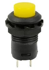 5 X Amarillo Off (en) momentáneo interruptor de botón Bocina De Timbre coche DASH 12v