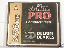 256 MB eFilm PRO COMPACT FLASH CF CARD USED IN CAMERAS,PDA'S,GPS