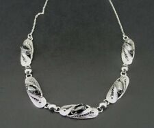 Vintage SORRENTO Hematite Sterling Silver Link NECKLACE