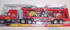BRAND NEW RED CARS LIGHTNING MCQUEEN 95 & CARRIER TRUCK & 6 CARS PARTY TOY