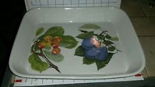 Painted PORTMEIRION England Large Casserole Serving Dish 12 1/2 x 10 Figs Cherry