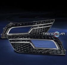 2013-2014 AUDI A4 B8 HONEYCOMB MESH FRONT BUMPER FOG LIGHT COVER BEZEL BLACK NEW