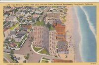 (U)  Long Beach, CA - Bird's Eye View of East Ocean Boulevard and Coastline