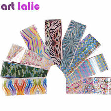 16x Metallic Nail Foils Wraps Transfer Stickers Decals for Acrylic UV Gel Tips