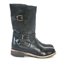 Size 6.5 - CLARKS Women's Black Leather Biker Boots